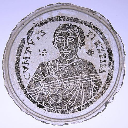 Bowl Base with the Portrait of a Young Man (300-500 CE). Photo: The Metropolitan Museum of Art (18.145.5).