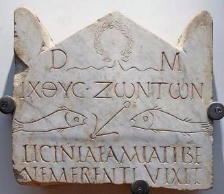 Inscription now in the Baths of Diocletian. Odd video here.