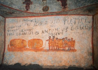 Fresco from the catacomb of Priscilla. Photo Credit: David Macchi.