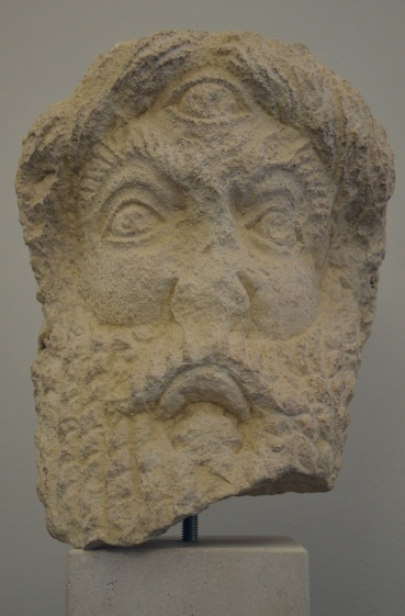 Head of Polyphemus. It is dated to the 4th c. CE and comes from the amphitheater at Salona.