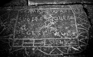 Inscription on the board at Timgad.
