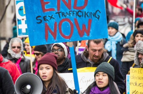 March in Toronto earlier this year to protest sex trafficking. Picture via Glammonitor.