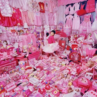 """The Pink Project"" Jeeyoo and Her Pink Things, 2007 by JeongMee Yoon (Photo via ReShareable TV)."