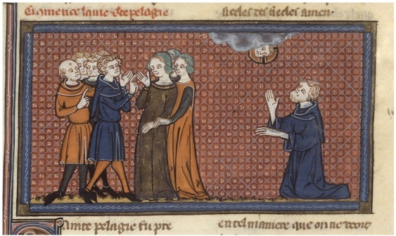 Français 185 , Fol. 264v Vies de saints, France, Paris, XIVe siècle, Richard de Montbaston et collaborateurs.