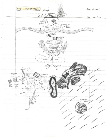 Drawing done by Sam Connet for Rob Ketterer's Virgil Class c.2005.