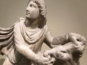 Mithras slaying a bull (140-160 CE; Princeton University Art Museum).