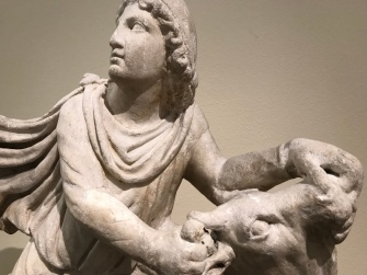 Mithras slaying a bull (140-160 CE; Princeton University Art Museum).